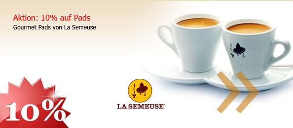10% Aktion für Gourmet Pads von La Semeuse